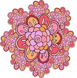 Beautiful doodle flower. Stock Photo
