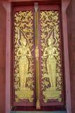Beautiful door of the bodhgaya at wat Monmahinsiraram Stock Photography