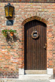 Beautiful door in Bruges, Belgium royalty free stock images