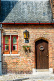 Beautiful door in Bruges, Belgium Stock Images