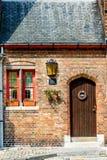 Beautiful door in Bruges, Belgium Stock Images