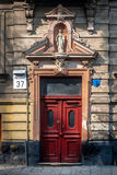 Beautiful door on the facade of a historic building in Ukraine Royalty Free Stock Images