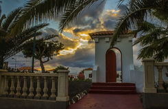 Beautiful door at sunset Royalty Free Stock Image