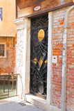 Beautiful door to dentist office in Venice, Italy Royalty Free Stock Image