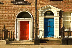 Beautiful doors in Dublin Stock Photos