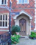 Beautiful Doorway. This beautiful doorway can be found in Bury St. Edmund UK Royalty Free Stock Image