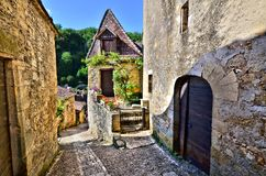 Beautiful Dordogne village of Beynac, France Royalty Free Stock Photography