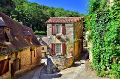 Beautiful Dordogne Village Of Beynac, France Royalty Free Stock Photos