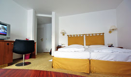 Beautiful double room. Double room in a hotel Royalty Free Stock Image