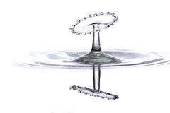 Beautiful double water drop splash Stock Images