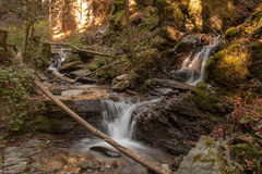 Beautiful double waterfall. At Hoellental, Austria Royalty Free Stock Photos