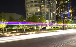 Beautiful downtown of Dallas at night. Pretty downtown of Dallas at night ,TX USA Royalty Free Stock Photography