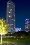 Beautiful downtown of Dallas night scenes Stock Images