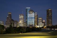 Beautiful downtown Houston night Royalty Free Stock Image