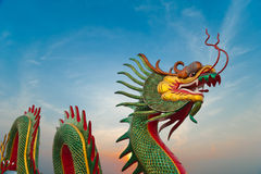 Beautiful dragon with nice sky Stock Photo