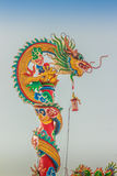 Beautiful Dragon Sculpture on the Chinese Pavilion Roof in the C Royalty Free Stock Image