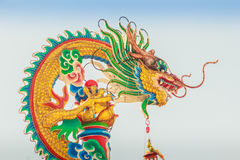 Beautiful Dragon Sculpture on the Chinese Pavilion Roof in the C Royalty Free Stock Photos