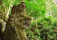 Beautiful dragon sculpture in the jungle, Ubud Stock Photo