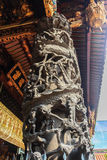 Beautiful dragon sculpture at Lungshan Temple of Manka,  Buddhis Royalty Free Stock Photos