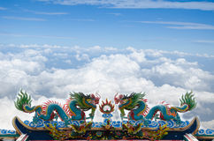 Beautiful Dragon Statue Royalty Free Stock Photos