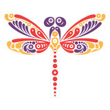 Beautiful dragonfly tattoo Royalty Free Stock Image