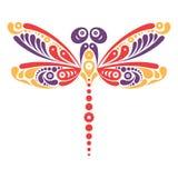 Beautiful dragonfly tattoo Royalty Free Stock Image