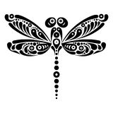 Beautiful dragonfly tattoo. Artistic pattern in Stock Photos