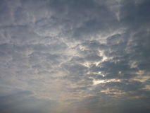 Beautiful dramatic morning sky with clouds Stock Image