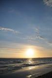 Beautiful dramatic peaceful sun set at the  Pacific sea Stock Photo