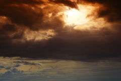 Beautiful dramatic sky. Royalty Free Stock Photos