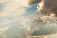 Beautiful and dramatic sky before storm - outdoors shot Stock Photo