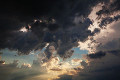 Beautiful dramatic sky Stock Photography