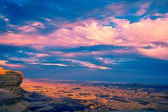 Beautiful dramatic sunset over the desert stock images