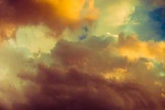 Beautiful dramatic winter cloudscape Stock Photography