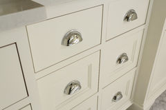 Beautiful Drawers in Upscale Master Bathroom Stock Photography