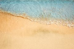 Beautiful drawing on the sand of the sea background. A Beautiful drawing on the sand of the sea background stock photos