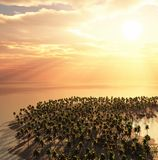 Beautiful dream island. View from sky Stock Images
