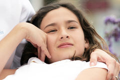Beautiful dreaming girl Royalty Free Stock Images