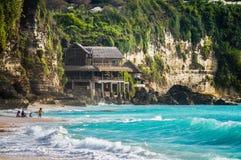Beautiful Dreamland beach-Bali,Indonesia. Rocks on Beautiful Dreamland beach Bali,Indonesia Stock Image