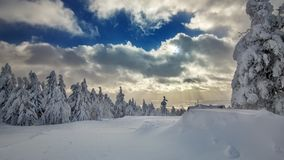 A beautiful and dreamlike winter landscape stock photo