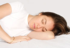 Beautiful dreams - sleeping girl Royalty Free Stock Photography