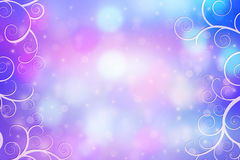 Beautiful dreamy background with bokeh lights and artistic frame Stock Images