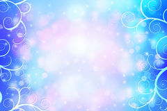 Beautiful dreamy background with bokeh lights. And swirls Royalty Free Stock Photos
