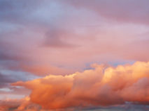 Beautiful, dreamy, pink sky with clouds Royalty Free Stock Photo