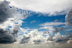 Beautiful dreamy scene of air clouds on blue sky background. Beauty in nature stock images