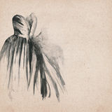 Beautiful dress drawing royalty free illustration