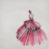 Beautiful dress drawing vector illustration