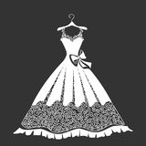 Beautiful dress silhouette Royalty Free Stock Photo