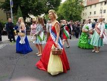 Beautiful dresses. Festumzug Delitzsch 2017 zum Peter & Paul Stadtfest Royalty Free Stock Images