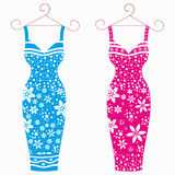Beautiful dresses for girls Stock Images